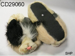 Plush upper fancy animal slipper