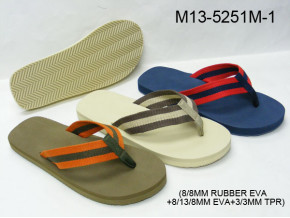 Men nylon webbing EVA slipper