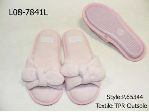 Ladies coral plush upper slipper